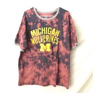 U of Michigan Wolverines tiedye T-shirt